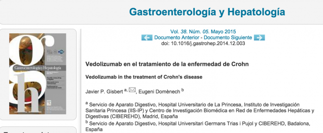 El papel de vedolizumab en el tratamiento de la enfermedad de Crohn: artículo de revisión