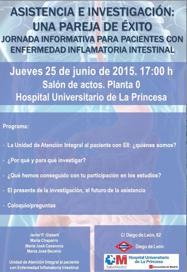 Jornada para pacientes con Enfermedad Inflamatoria Intestinal-H. de La Princesa