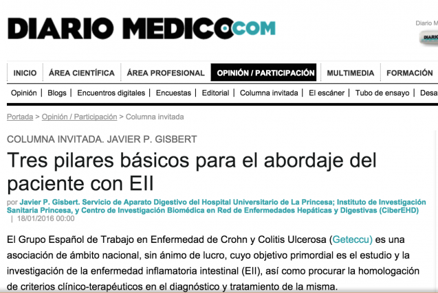 Los tres pilares básicos para el abordaje del paciente con EII