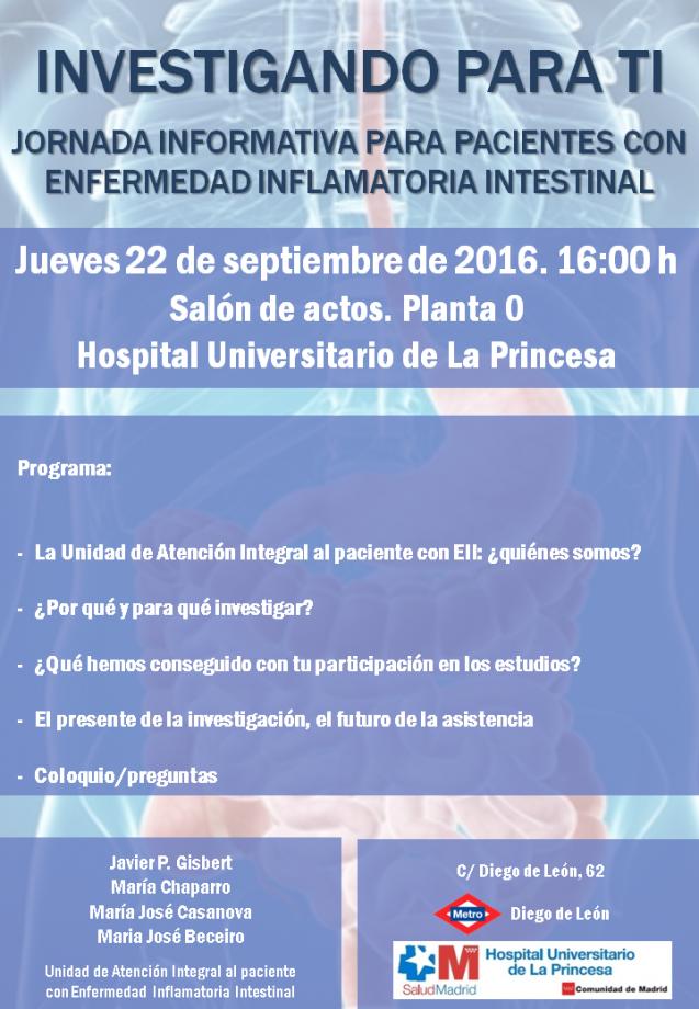 Investigando para ti: Jornada informativa para pacientes con EII